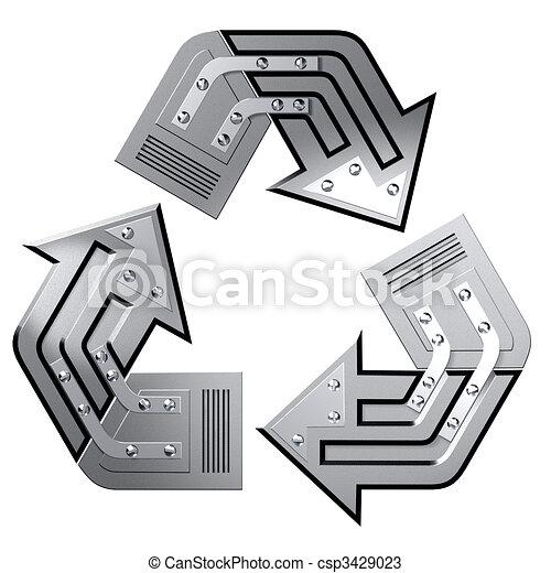 Conceptual Recycling Symbol - csp3429023