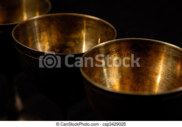 Abstract Antique Silverware - csp3429028