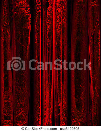 movie or theater curtain - csp3429305