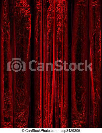 movie or theater curtain - csp3429305