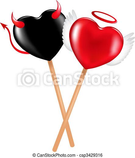 Angel And Demon Lollipops - csp3429316