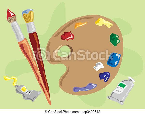 artists palette - csp3429542