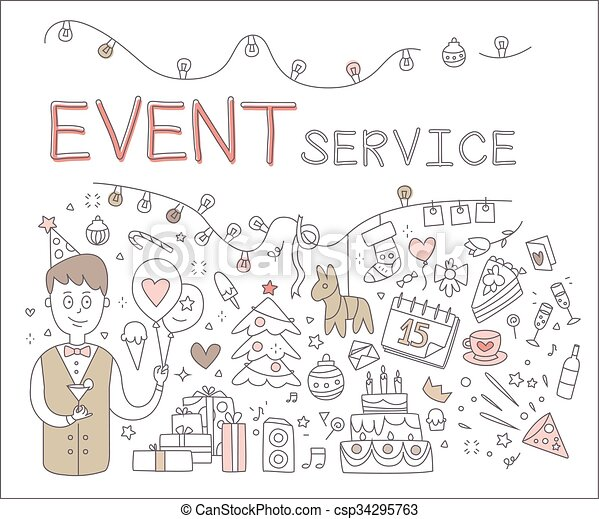 Event Service. Vector Illustration - csp34295763