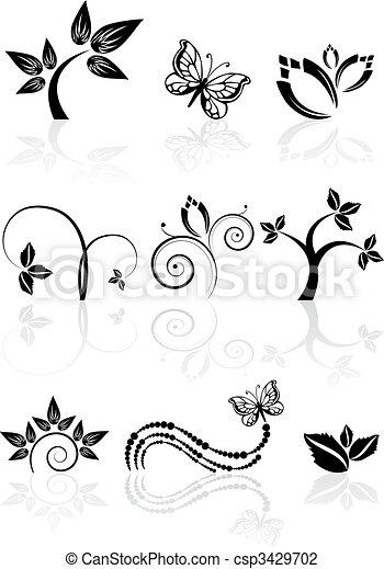 Monochrome nature icons - csp3429702