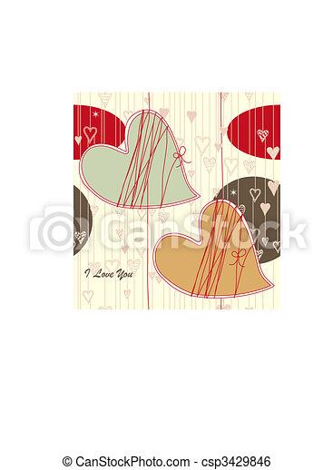 Seamless Valentine Pattern - csp3429846
