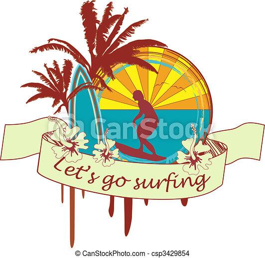 Surf emblem - csp3429854