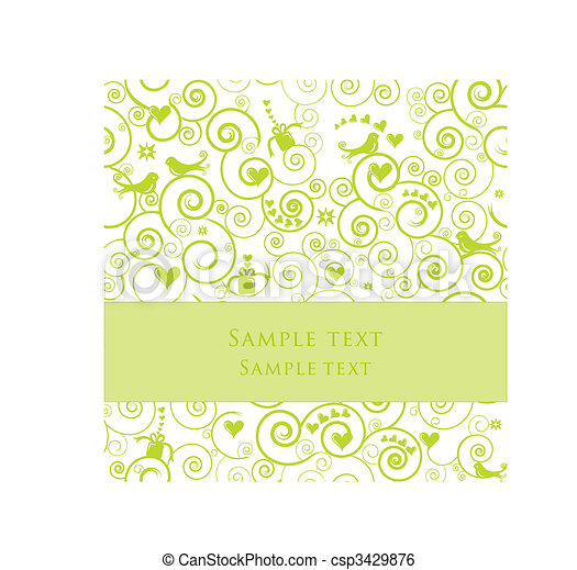 Greeting Card or Invitation for Parties, Weddings, Showers - csp3429876