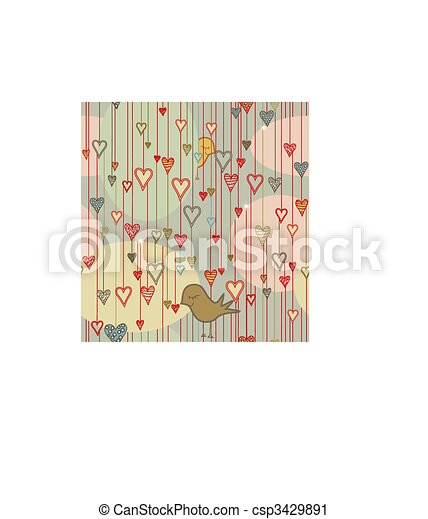 Seamless Valentine Pattern - csp3429891
