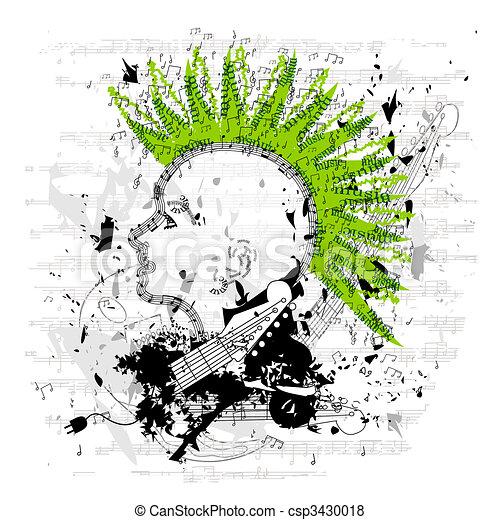Grungy Punk/Emo Vector - csp3430018