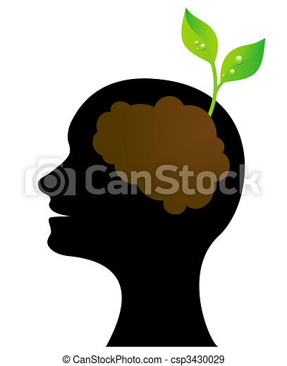 Person thinking Green  - csp3430029
