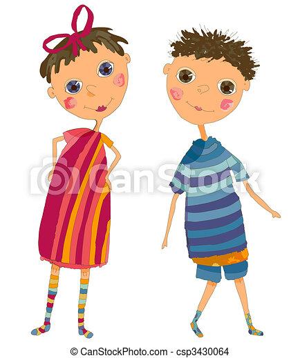 Boy and Girl - csp3430064
