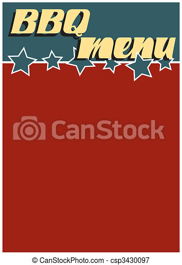 Retro BBQ Menu - csp3430097