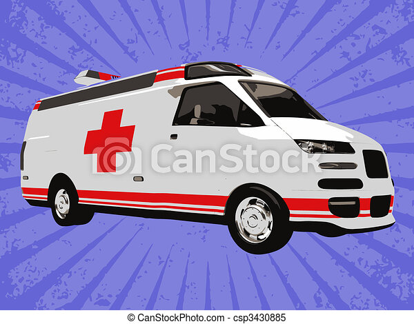 Vector emergency truck - csp3430885