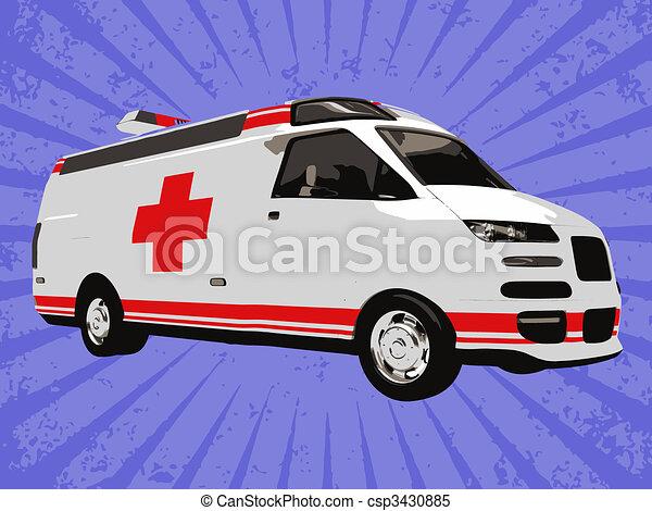 Vector emergency truck - csp3430885