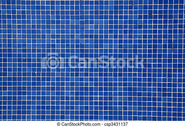 Im genes de azul pared azulejos mosaico azul mosaico for Mosaicos de azulejos en paredes