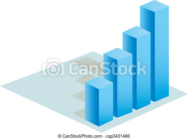 3d statistic buiness chart vector   - csp3431466