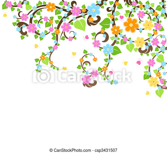 vector blossom tree - csp3431507