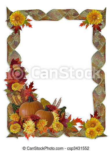 Thanksgiving Autumn Fall Background - csp3431552