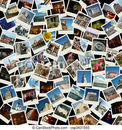 Go Europe - background with travel photos of european landmarks - csp3431555