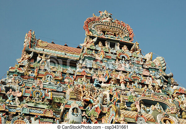 Sri Ranganathaswamy Temple (Srirangam) - is world heritage in Southern India.It is one of the largest religious complexes in the world - csp3431661