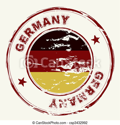 germany ink stamp - csp3432992