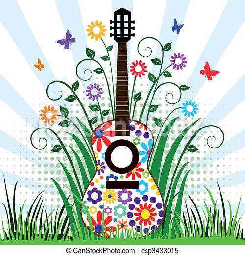 clipart vettoriali di chitarra  prato chitarra  con guitar clip art free small guitar clip art free small image