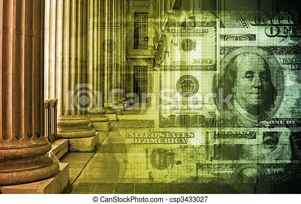 bancario, linea - csp3433027