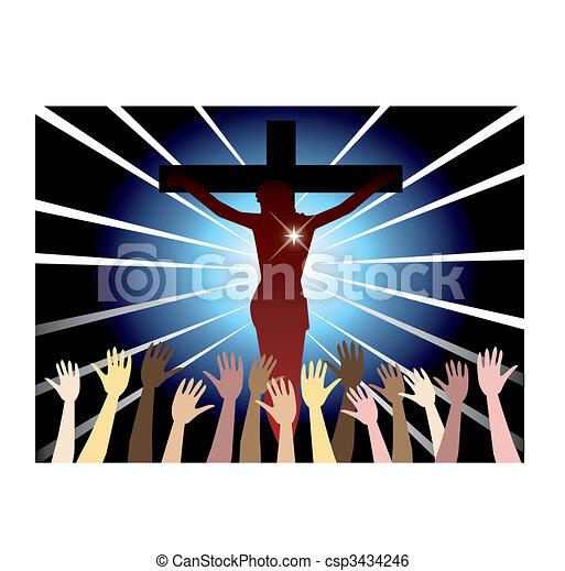 Easter Resurrection - csp3434246