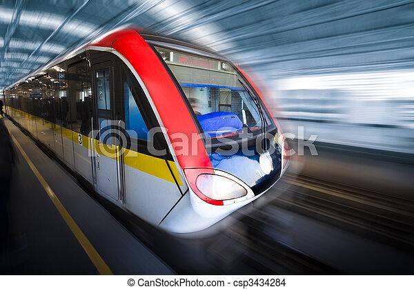 mouvement,  train, barbouillage - csp3434284