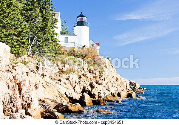 Bass Harbor Lighthouse, Maine, USA - csp3434651