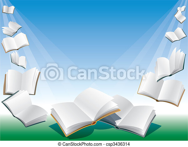 Flying books - csp3436314