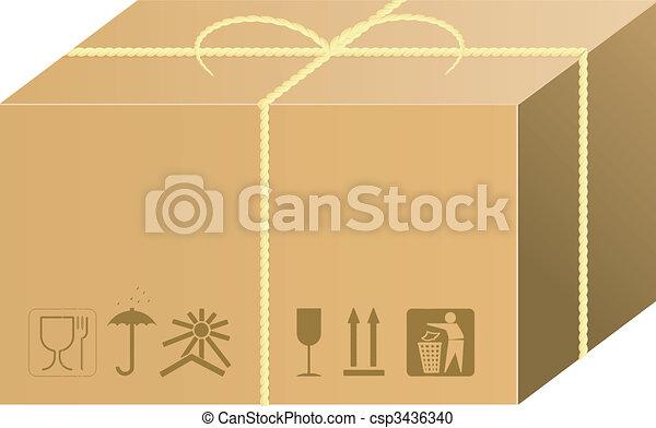 shipping box vector - csp3436340