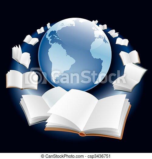 Flying books - csp3436751