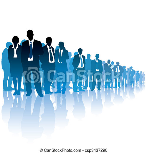 Crowd of businesspeople - csp3437290