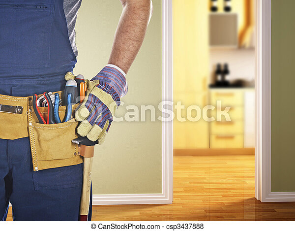 handyman ready for work - csp3437888