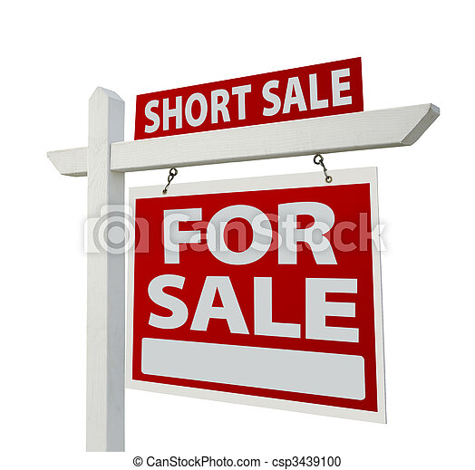 Short Sale Real Estate Sign - Right - csp3439100
