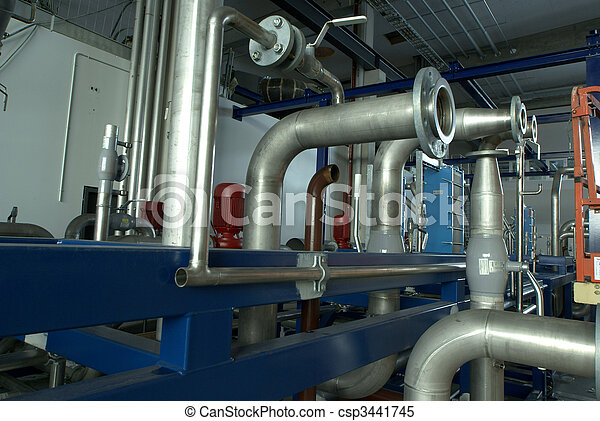 industrial pipes and machines       - csp3441745