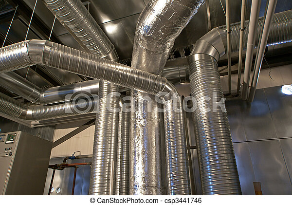 Ventilation pipes of an air condition - csp3441746