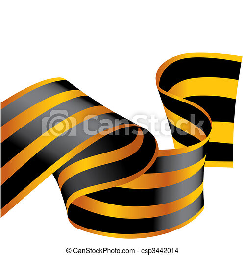 Colour ribbon. Vector illustration - csp3442014