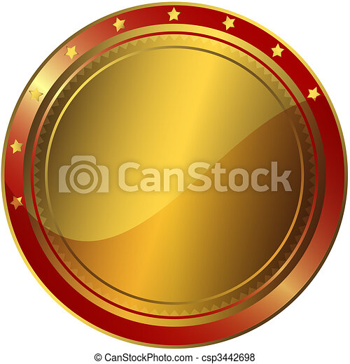 Golden And Red Award - csp3442698
