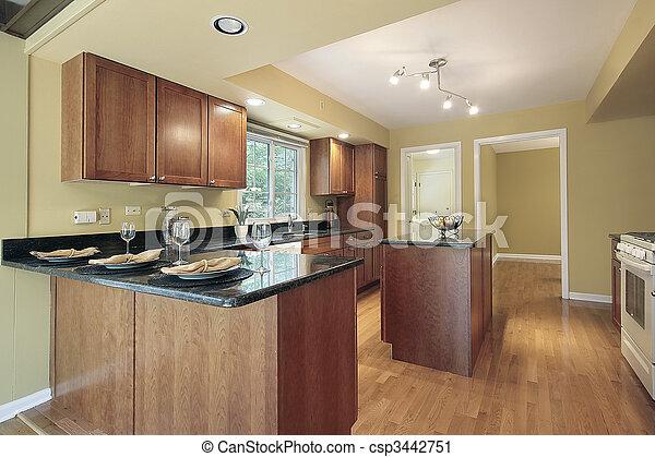 Stock de fotograf a de granito cocina mostradores - Mostradores de cocina ...