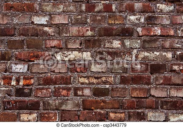 Red brick wall texture - csp3443779