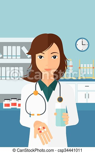 vector clip art of pharmacist giving pills a woman pharmacy clip art free images pharmacy clip art free images