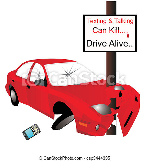 Texting and talking can Kill...  say No..... - csp3444335