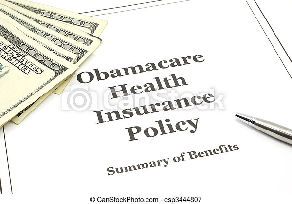 Obamacare health insurance policy - csp3444807
