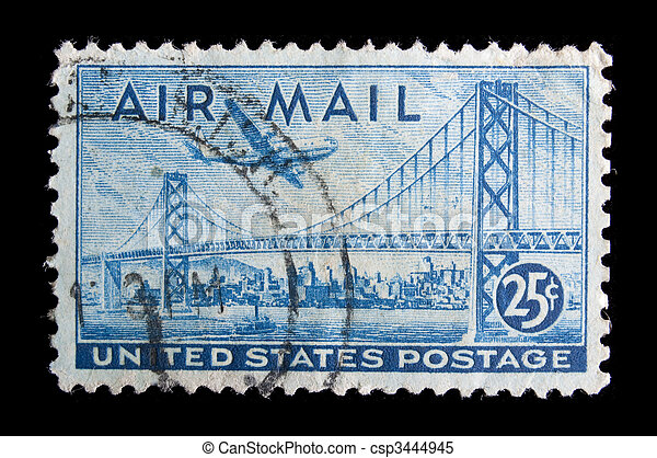 Vintage  US commemorative postage stamp - csp3444945