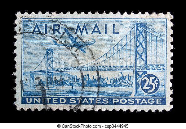 Vintage  US commemorative postage stamp - csp3444945