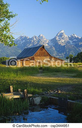 Mormon Barn - csp3444951