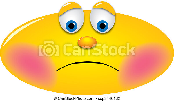 Embarrassed Smiley - csp3446132