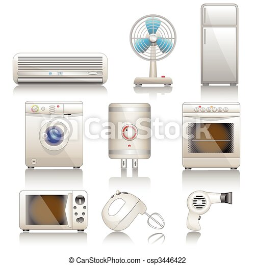 Icon set-Technics-Technology - csp3446422
